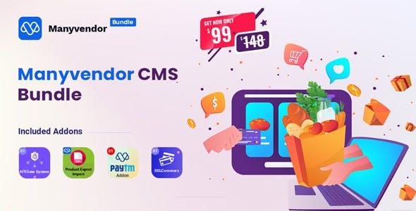 Manyvendor - eCommerce & Multi-vendor CMS Bundle