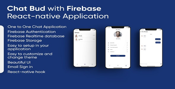 Chat Bud With Firebase React-native application - CodeCanyon Item for Sale
