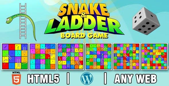 Snake and Ladder Board Game V2 (HTML5) Board Game