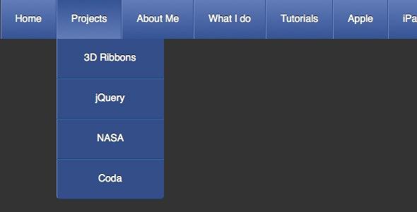 CSS3 Drop Down Menus - CodeCanyon Item for Sale