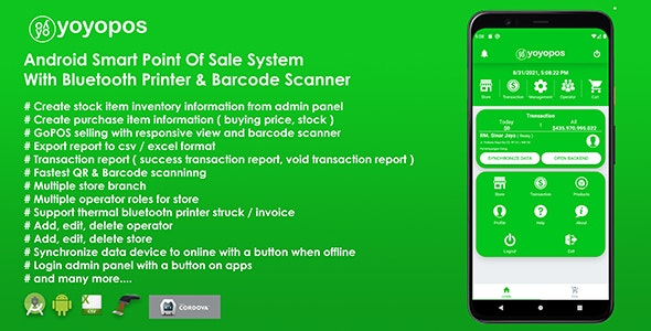 YoyoPOS - Point Of Sales for Android APP with Barcode Scanner and API - CodeCanyon Item for Sale