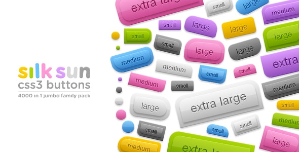 silksun CSS3 buttons - 4000 in 1 jumbo family pack - CodeCanyon Item for Sale