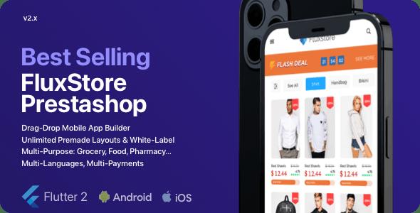 Fluxstore Prestashop - Flutter E-commerce Full App - CodeCanyon Item for Sale