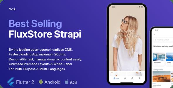 Fluxstore Strapi - Fastest Flutter App + Headless CMS Strapi - CodeCanyon Item for Sale
