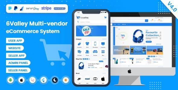 6valley Multi-Vendor E-commerce - Complete eCommerce Mobile App, Web, Seller and Admin Panel V4.0