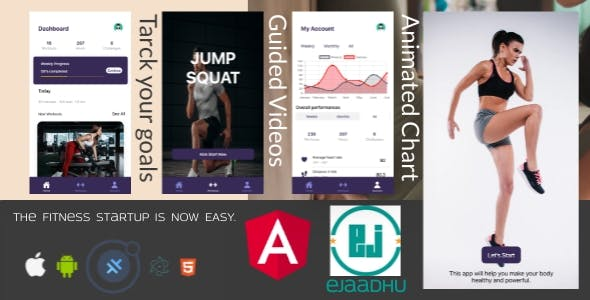 ejaadhuFit starter template with login, signup and onboarding page: IONIC, capacitor, cordova.