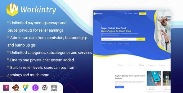 Workintry - Freelance Marketplace and Gig Based WordPress Plugin