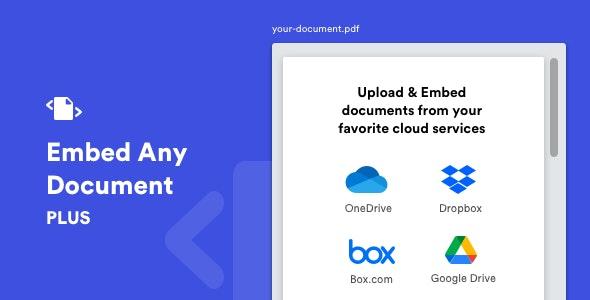 Embed Any Document Plus v2.8.0 – WordPress Plugin