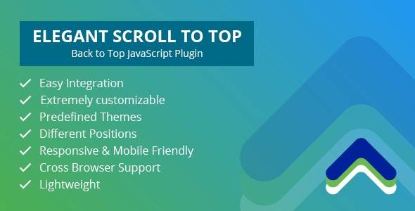 Elegant Scroll to Top – Back to Top JavaScript Plugin - CodeCanyon Item for Sale