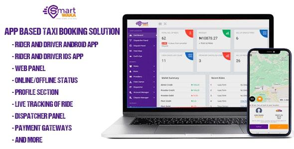 Smartwaka v1.0 – Complete solution like Uber with webpanel