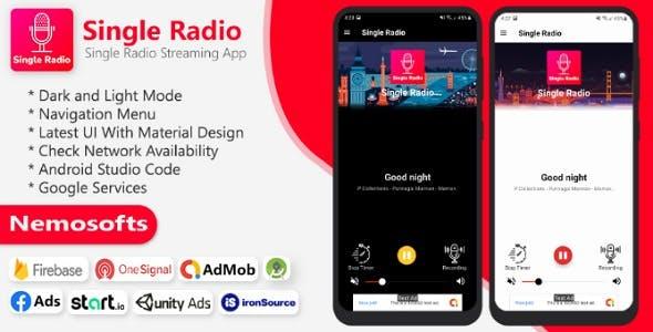 Android Single Radio and Admin Panel