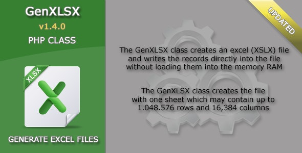 GenXLSX - Script to Generate Excel Files - CodeCanyon Item for Sale
