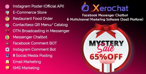 XeroChat - Facebook Chatbot, eCommerce & Social Media Management Tool (SaaS)