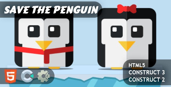 Save The Penguin HTML5 Construct 2/3 Game