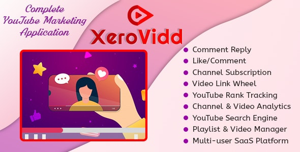 XeroVidd - Complete YouTube Marketing Application (SaaS Platform) - CodeCanyon Item for Sale