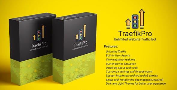 TraefikPro - Unlimited website traffic bot
