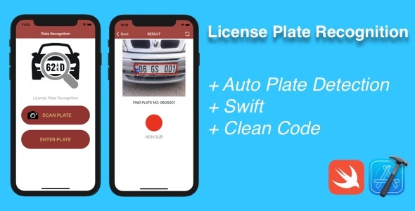 iOS License Plate Recognition - CodeCanyon Item for Sale