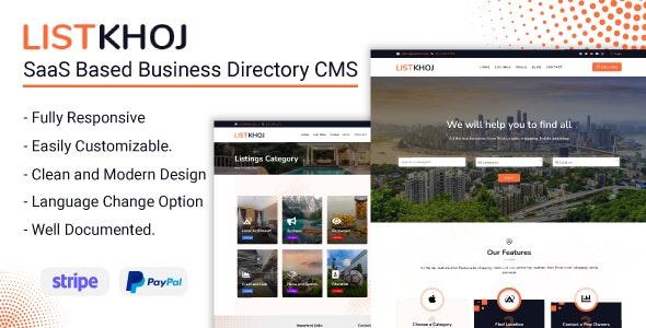 Listkhoj - SaaS Based Business Directory CMS - CodeCanyon Item for Sale