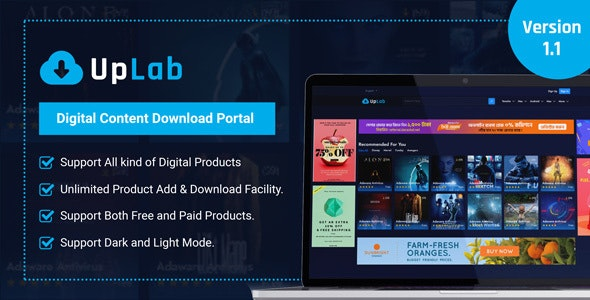 UpLab - Digital Content Download Portal - CodeCanyon Item for Sale