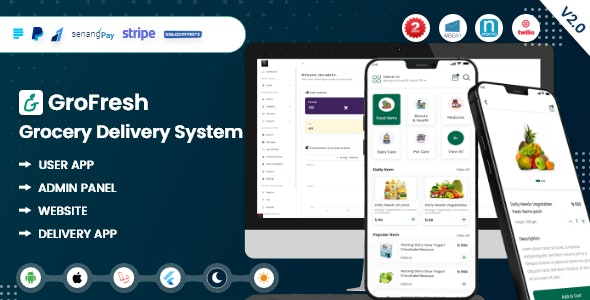 GroFresh - (Grocery, Pharmacy, eCommerce, Store) App and Web with Laravel Admin Panel + Delivery App - CodeCanyon Item for Sale