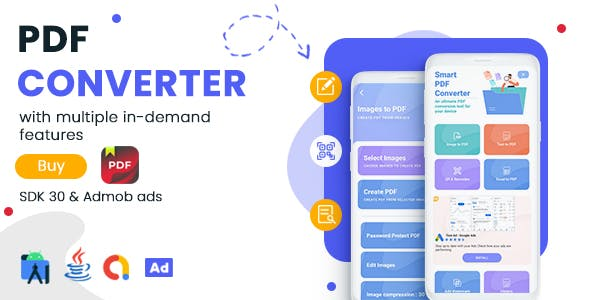PDF Converter & PDF Editor for Android - Admob Ads