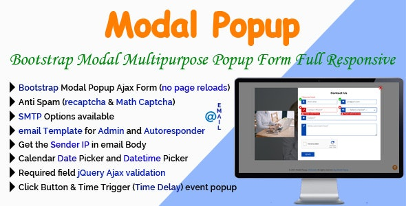Modal Popup - Bootstrap Modal Multipurpose Popup Form Full Responsive - CodeCanyon Item for Sale