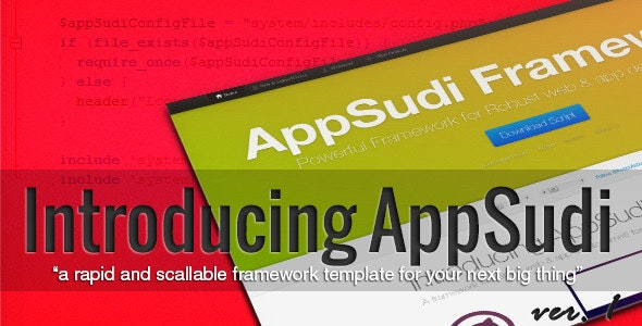 AppSudi Framework - CodeCanyon Item for Sale