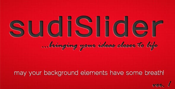 SudiSlider - Background Elements Slider