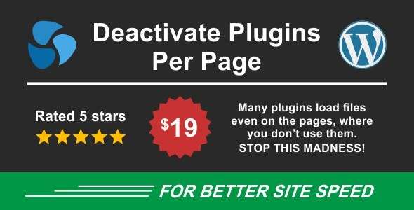 Deactivate Plugins Per Page - Improve WordPress Performance - CodeCanyon Item for Sale
