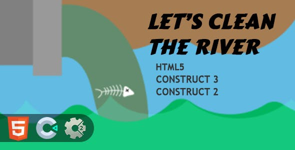 Clean The River HTML5 Construct 2/3 Game