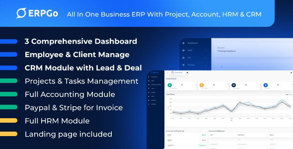 ERPGo - All In One Business ERP With Project, Account, HRM & CRM - CodeCanyon Item for Sale