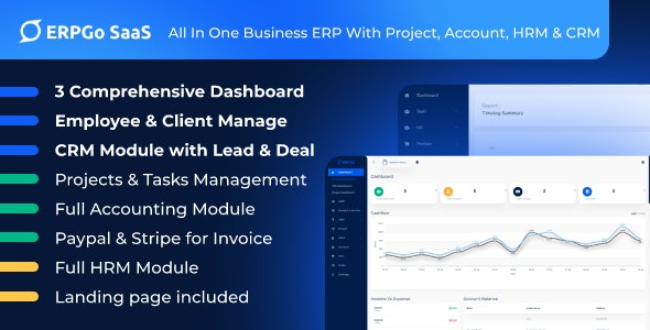 ERPGo SaaS - All In One Business ERP With Project, Account, HRM & CRM - CodeCanyon Item for Sale