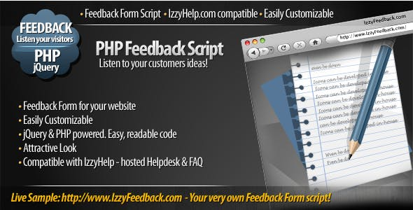 IzzyFeedback - customizable Feedback Form script - CodeCanyon Item for Sale