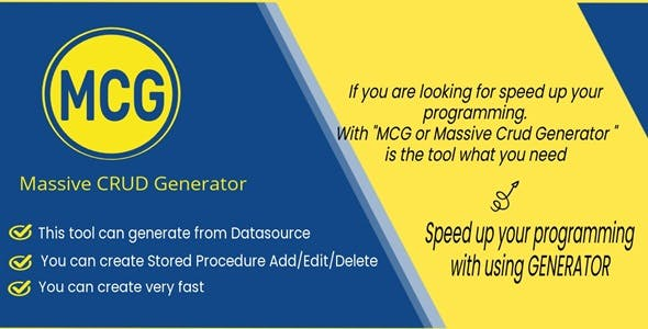 MCG - Massive CRUD Generator for MySQL Stored Procedure