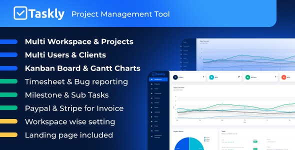 TASKLY – Project Management Tool - CodeCanyon Item for Sale
