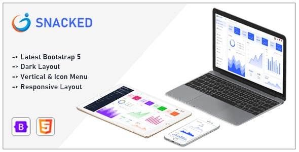 Snacked v1.0 – Bootstrap 5 Admin Template