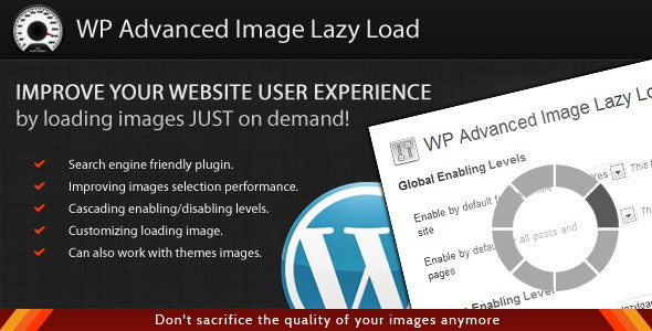 WordPress Advanced Image Lazy Load - CodeCanyon Item for Sale