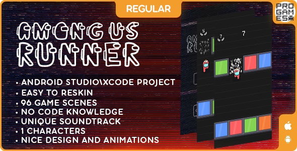 Among Us Runner (REGULAR) - IOS - Android - Reward video - CodeCanyon Item for Sale