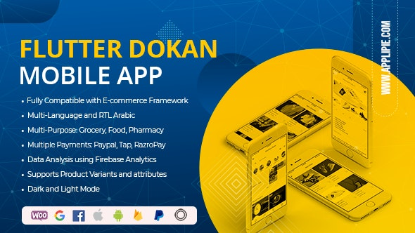 Flutter Dokan WooCommerce Full App - CodeCanyon Item for Sale