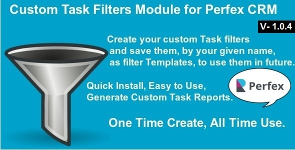 Custom Task Filters Module for Perfex CRM - CodeCanyon Item for Sale