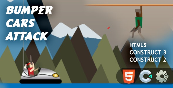 Bumper Cars Attack HTML5 Construct 2/3 - CodeCanyon Item for Sale