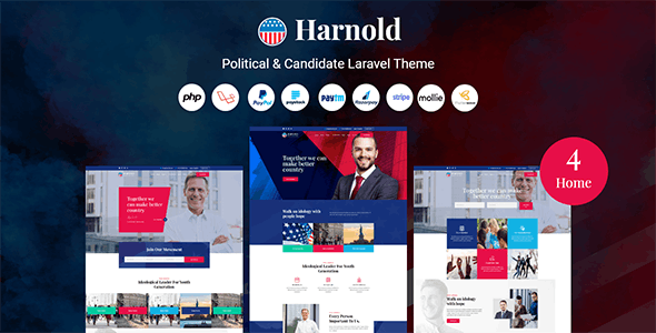 Harnold - Political CMS - CodeCanyon Item for Sale
