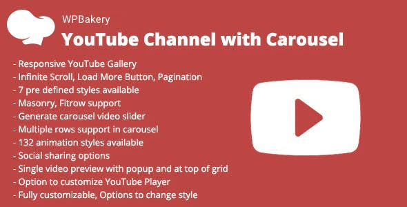 WPBakery YouTube Channel with Carousel Addon