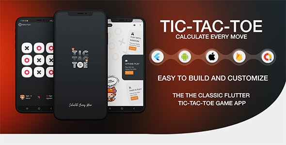 Tic Tac Toe - The Classic Flutter Tic Tac Toe Game - CodeCanyon Item for Sale