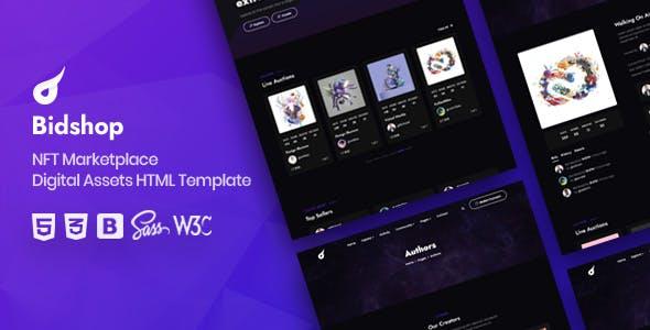 Bidshop - NFT Marketplace HTML Template