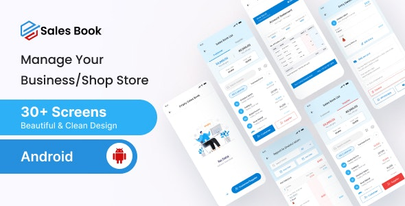 Salesbook - Mobile POS Inventory Android Ui Kit - CodeCanyon Item for Sale