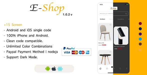 E-Shop - React Native Ecommerce Template / Redux / JSON Server
