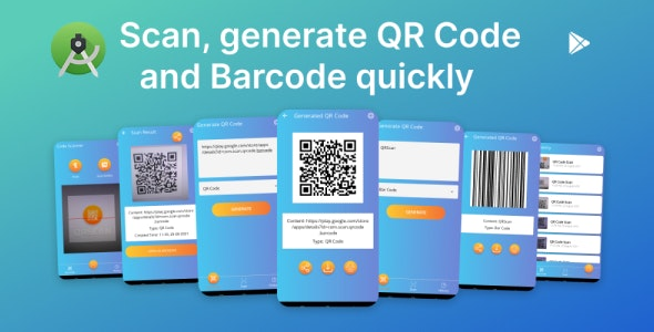 QRScan - Scan, generate QR Code and Barcode quickly - CodeCanyon Item for Sale