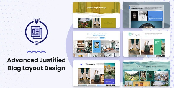 Advanced Justified Blog Layout Design - CodeCanyon Item for Sale