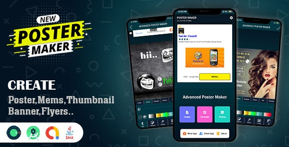 Advanced Poster & Memes Maker App Source Code - CodeCanyon Item for Sale
